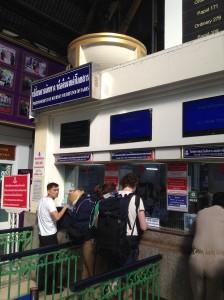 フアランポーン駅・切符予約販売窓口