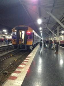 今回乗り込む列車の最終車両