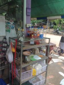 店先で販売されているガソリン