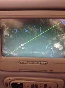 実家上空近くが香港航空(BKK-HKG)の飛行航路