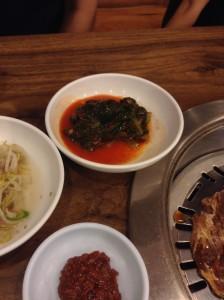 ソウル・カルビ食堂のおかず 1