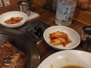 ソウル・カルビ食堂のおかず 2 。 白菜キムチ