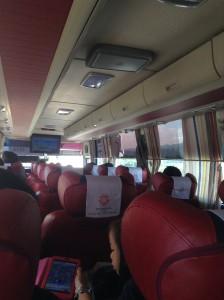 韓国の高速優等バスの内部