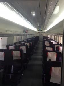 韓国のITX-セマウル号・車内4列の席