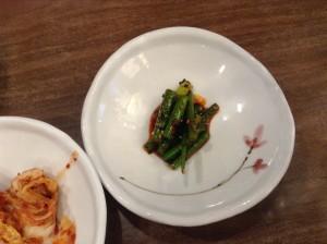 ソウル・明洞の食堂のおかず 1