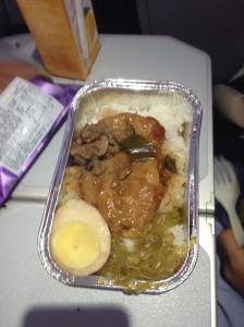 メインディッシュの Pork Chop with Rice のハイコ飯