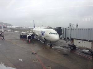 搭乗した V AIR ZV006 便@台北