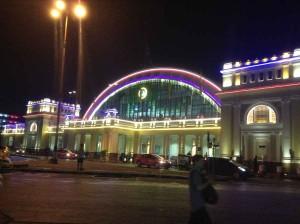 ライトアップされてたフアランポーン駅