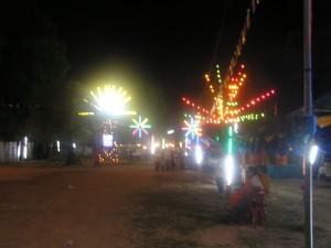 モーラムが行われる寺の入口