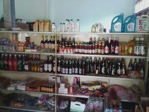 村の商店で販売されているラオカオ